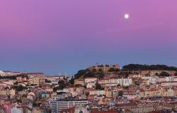 Ansicht der Nacht Lissabon lizenzfreie stockfotografie
