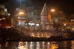 Ansicht der Nacht Puja Stockbild
