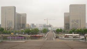 Ansicht der Nationalbibliothek von Frankreich durch Simone de Beauvoir f lizenzfreie stockfotos