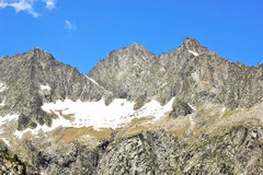 Ansicht der Natur in französischen Pyrenees stockbilder
