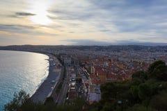 Ansicht der Nizza Stadt, Cote d'Azur frankreich Stockfoto