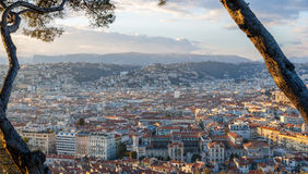 Ansicht der Nizza Stadt - Frankreich Lizenzfreie Stockbilder