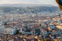 Ansicht der Nizza Stadt mit Lycee Massena Lizenzfreies Stockfoto