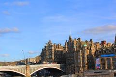 Ansicht der Nordbrücke in Edinburgh Lizenzfreies Stockbild