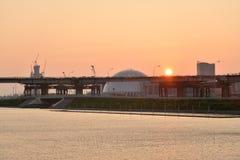 Ansicht der Nordweststadtrände von St Petersburg Lizenzfreies Stockbild