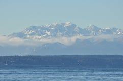 Ansicht der olympischen Halbinsel Stockbild