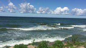 Ansicht der Ostsee in Pionerskiy stock footage