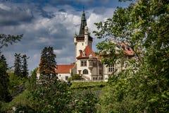 Ansicht der Pruhonice-Schloss-Tschechischen Republik stockfoto