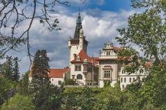 Ansicht der Pruhonice-Schloss-Tschechischen Republik lizenzfreie stockfotografie