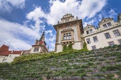 Ansicht der Pruhonice-Schloss-Tschechischen Republik lizenzfreie stockbilder