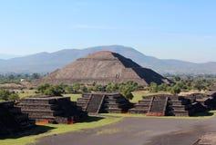 Ansicht der Pyramide des Sun in Teotihuacan, Mexiko Lizenzfreie Stockbilder