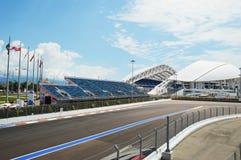 Ansicht der Rennstrecke von Formula-1 Lizenzfreies Stockfoto