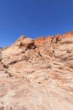 Ansicht der roten Felsen-Schlucht in der Mojave-Wüste. Lizenzfreie Stockfotografie