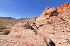 Ansicht der roten Felsen-Schlucht in der Mojave-Wüste. Stockfoto