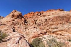 Ansicht der roten Felsen-Schlucht in der Mojave-Wüste. Lizenzfreies Stockbild