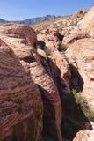 Ansicht der roten Felsen-Schlucht in der Mojave-Wüste. Lizenzfreie Stockfotos