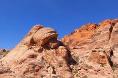 Ansicht der roten Felsen-Schlucht in der Mojave-Wüste. Lizenzfreie Stockbilder