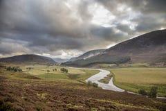 Ansicht der schönen Landschaft des Nationalparks der Rauchtquarze im scotl Stockbilder