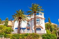 Ansicht der schönen Landschaft mit Mittelmeerluxus-resort Lizenzfreies Stockbild