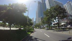 Ansicht der schönen Skyline von Panama-Stadt und der Finanzbereich in Panama stock video