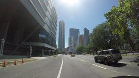 Ansicht der schönen Skyline von Panama-Stadt und der Finanzbereich in Panama stock video footage