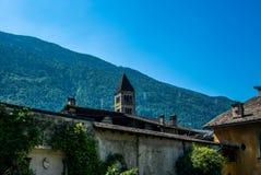 Ansicht der schmalen Straßen von Tirano auf italienisch Veltlin - 10 Lizenzfreie Stockbilder