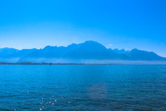 Ansicht der Schweizer Alpen Stockbild