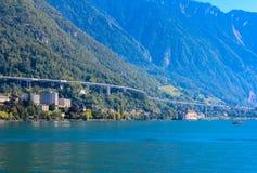 Ansicht der Schweizer Alpen Stockbilder