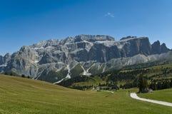Ansicht der Sella Gruppe, Alta Badia - Dolomit Stockbild