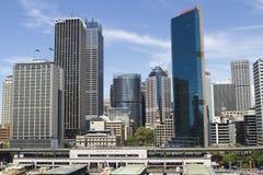 Ansicht in der Sidney-Mitte Lizenzfreie Stockbilder