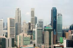 Ansicht der Singapur-Stadt vom Skybridge Stockbilder
