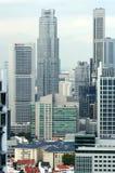 Ansicht der Singapur-Stadt vom Skybridge Stockbild