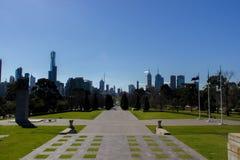 Ansicht der Skyline in Melbourne, Australien lizenzfreie stockbilder