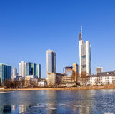 Ansicht der Skyline von Frankfurt-am-Main, Deutschland Lizenzfreie Stockfotos