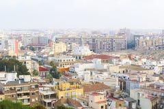 Ansicht der spanischen Stadt von Cartagena stockbild