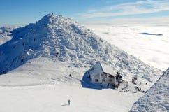Ansicht der Spitze des Berges Chopok lizenzfreie stockfotografie
