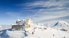 Ansicht der Spitze von Chopok im Winter, niedriges Tatras Stockfoto