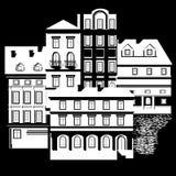 Ansicht der Stadt lizenzfreie abbildung