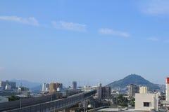 Ansicht der Stadt Hiroshima am Zug Lizenzfreie Stockbilder