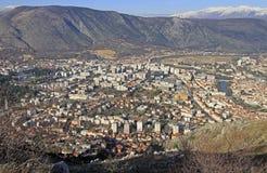 Ansicht der Stadt Mostar von Hügel Summen Lizenzfreies Stockfoto