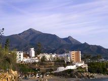 Ansicht der Stadt von Nerja Spanien Stockfotografie