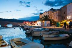 Ansicht der Stadt PAGs, Kroatien stockfotos