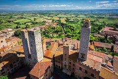 Ansicht der Stadt San Gimignano lizenzfreies stockbild