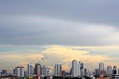 Ansicht der Stadt vom höchsten Gebäude in Thailand, Baiyoke Kontrollturm 2 Stockbild