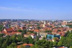 Ansicht der Stadt vom Turm von Gediminas Vilnius lizenzfreie stockfotografie