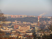 Ansicht der Stadt von Brno lizenzfreie stockfotos