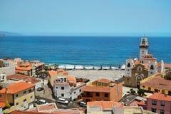 Ansicht der Stadt von Candelaria Stockfotos