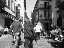 Ansicht der Stadt von Como in Schwarzweiss Lizenzfreie Stockfotos