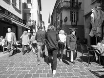 Ansicht der Stadt von Como in Schwarzweiss Lizenzfreies Stockfoto