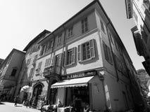 Ansicht der Stadt von Como in Schwarzweiss Lizenzfreies Stockbild